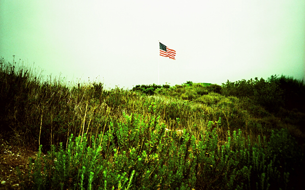 flag, america, hill, grass, juuuuicy