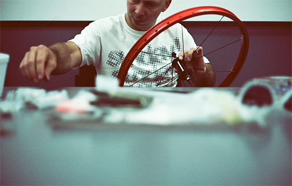 jim cielencki, sunday, table, bmx, wheel building, red, juuuuicy