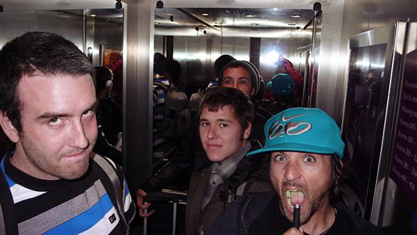catfish, laser, elevator, dylan smith, kevin kalkoff, dude, england
