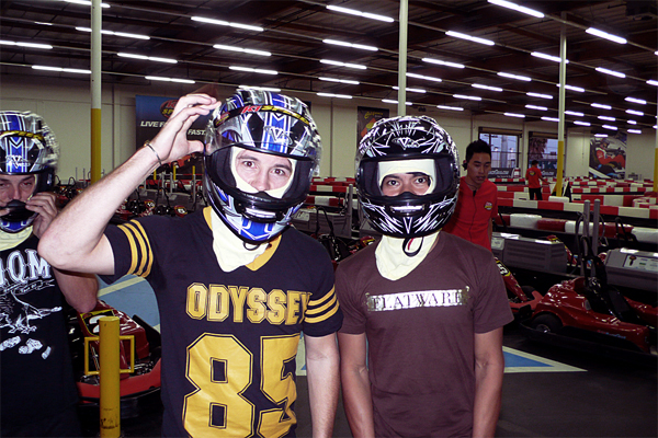 gary young, francis delapena, go karts, odyssey