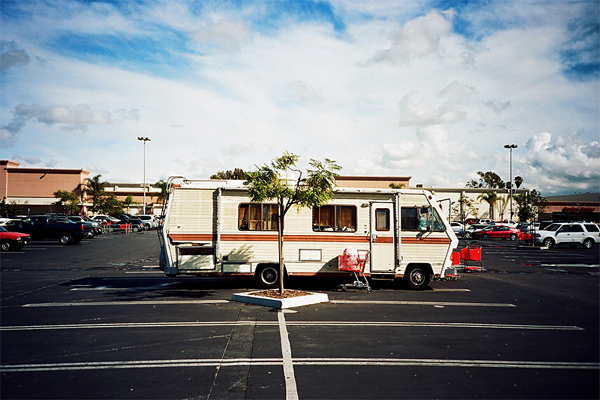 motor home, parking lot, target, long beach