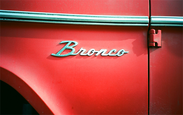 bronco, red, car, juuuuicy