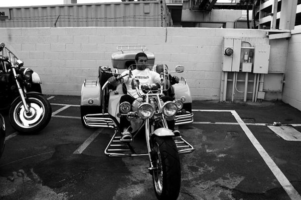 aaron ross, las vegas, motorcycle