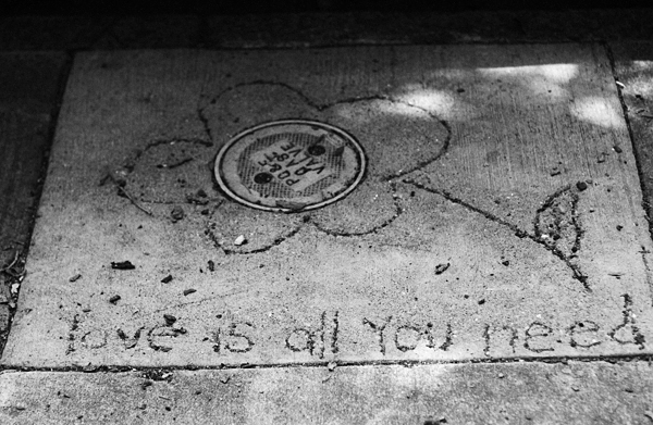 love is all you need, sidewalk, art, san francisco, juuuuicy