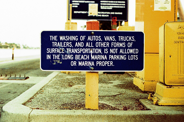 sign, long beach, california, marina, nuno oliveira, juuuuicy, blue, yellow
