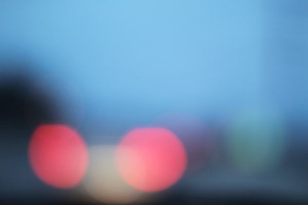 traffic, red, out of focus, blue, juuuuicy