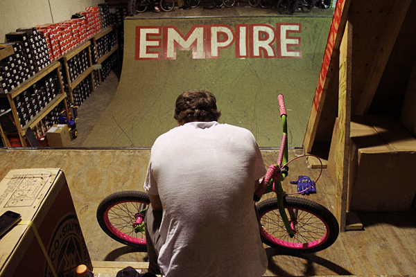 aaron ross, empire bmx, mini ramp