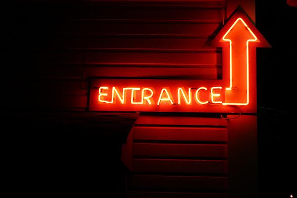 texas, entrance, sign, neon