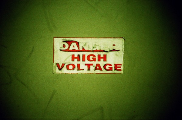 danger, high voltage, sign, long beach, lomo lc-a