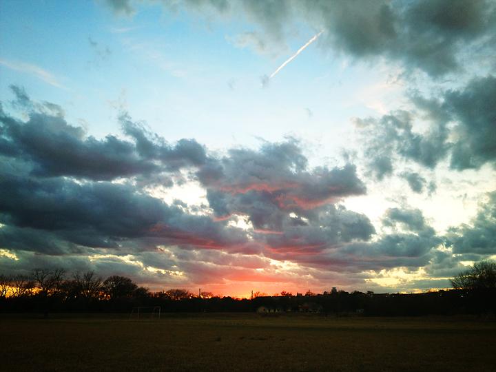 austin, sunset